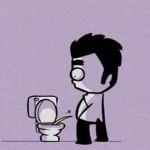 [Infographie] 9 façons très masculines d'utiliser les toilettes