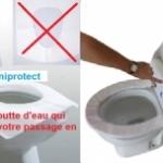 Couvre siège ou protection de lunette de wc pour toilettes